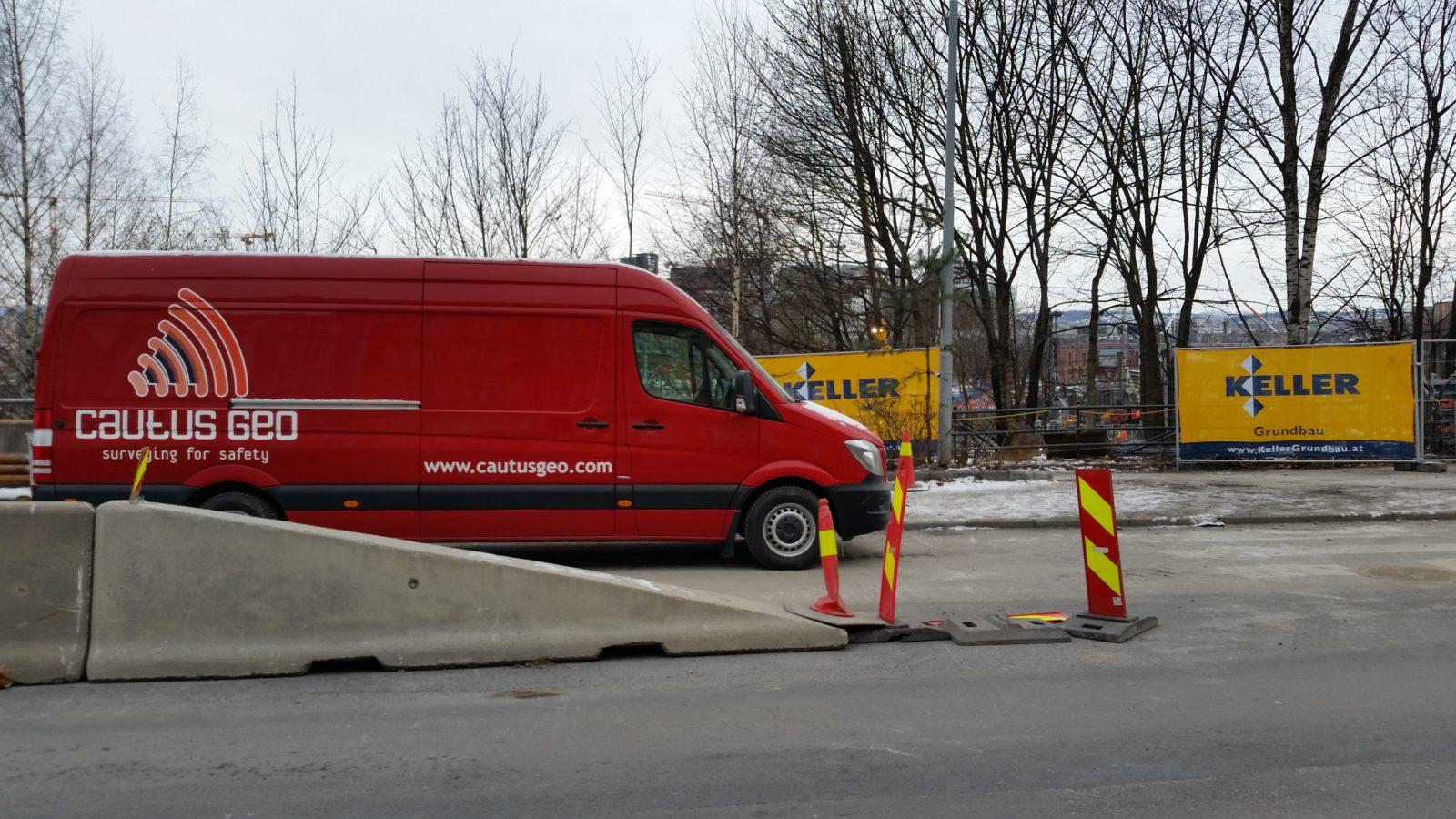 Cautus Geo jobber for Keller Grundbau på Follobanen