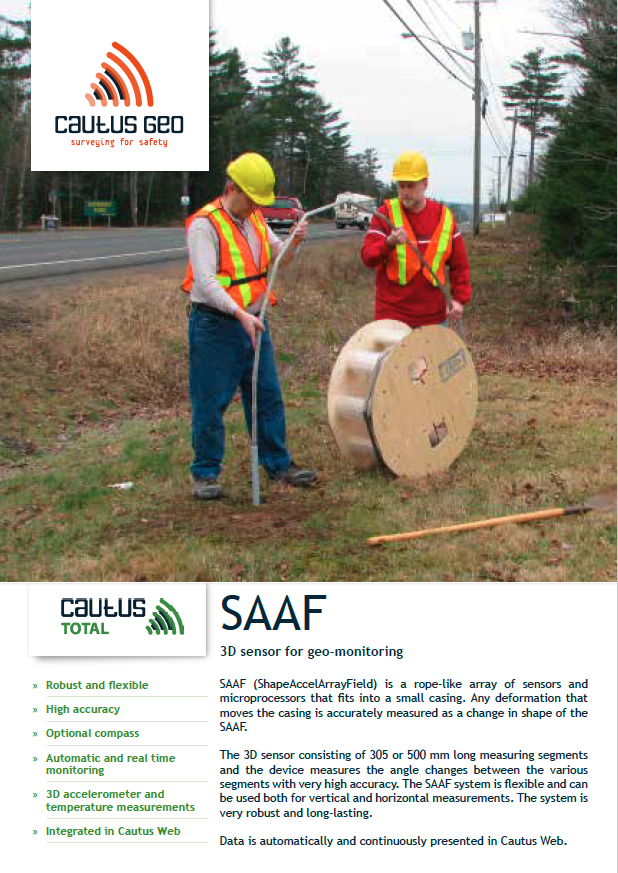 saaf deformation cables brochure