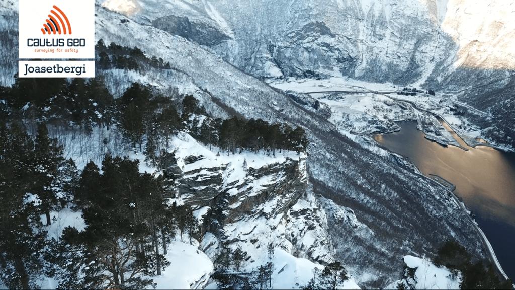 Joasetbergi overvåking fjellskred med totalstasjon