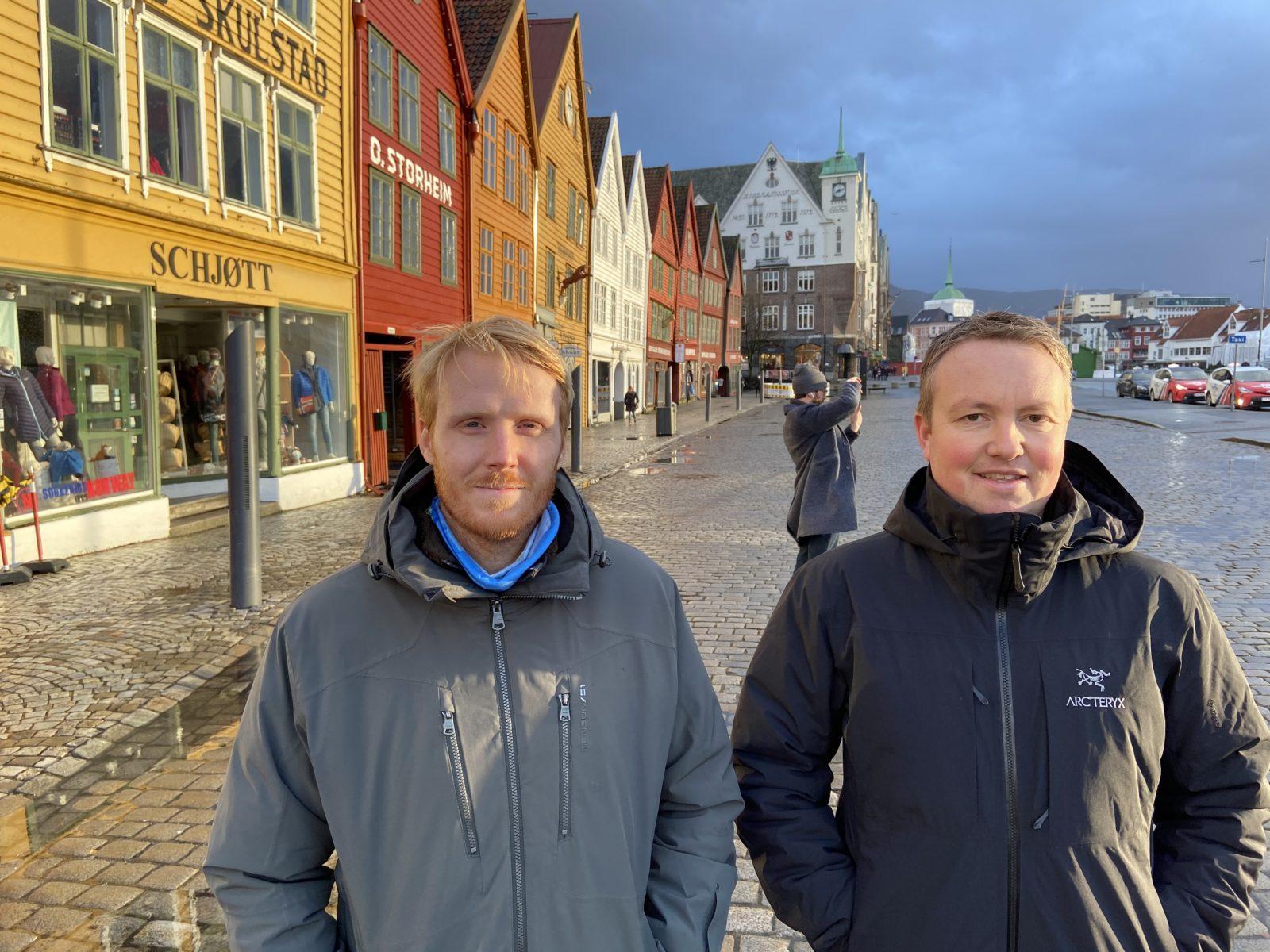 Prosjektlederne for Bryggen i Bergen er Jostein Soldal i Cowi og Lars Krangnes i Cautus Geo.